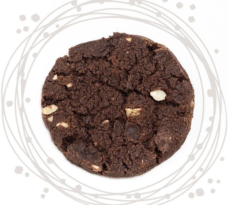 biscotto al cioccolato e arachidi